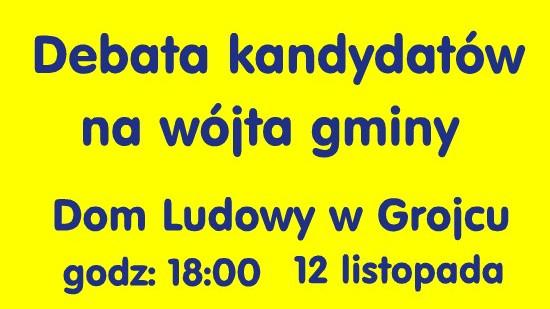 GMINA. Debata kandydatów na wójta gminy Oświęcim