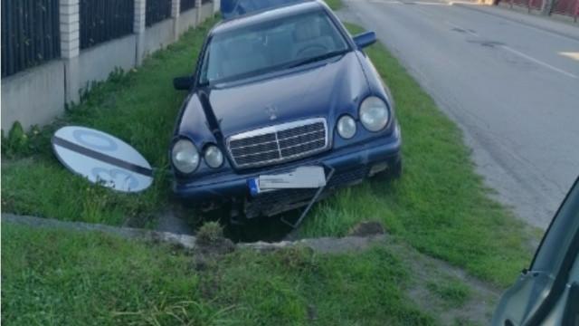 Gmina Oświęcim. Nietrzeźwy obywatel Ukrainy wjechał samochodem do rowu