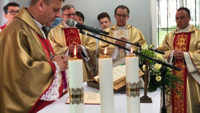 GROJEC. Biskup Roman Pindel poświęcił kaplicę