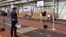 Hala Sportowa w Brzeszczach  zamieniła się w mobilne miasteczko komunikacyjne.