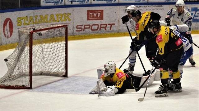 Hokej. Unia Oświęcim postawiła się liderowi, Tauronowi GKS Katowice