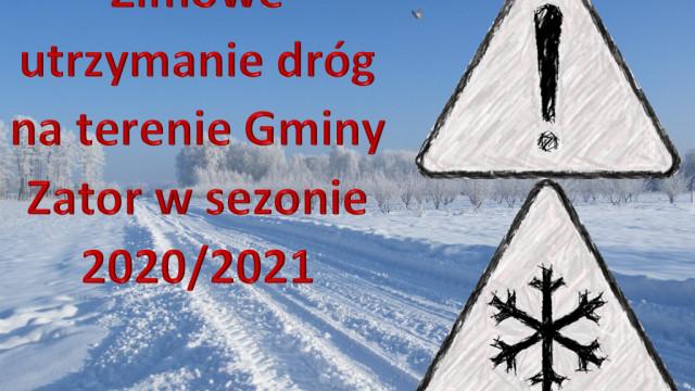 Informacja dotycząca zimowego utrzymania dróg na terenie gminy Zator w sezonie zimowym 2020/2021