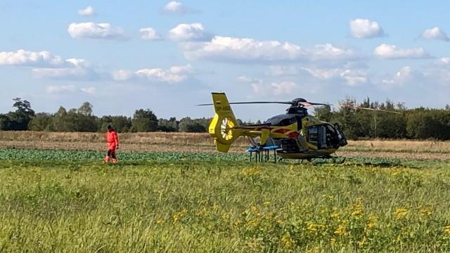 Interwencja śmigłowca LPR w gminie Kęty – ZDJĘCIA!