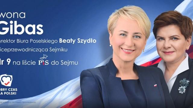 Iwona Gibas nr 9 na liście PiS do Sejmu