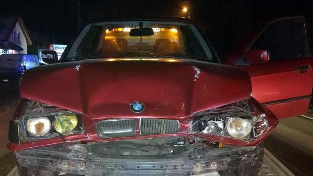 KĘTY. Miał uszkodzony pojazd i odebrany dowód rejestracyjny. Spowodował kolizję