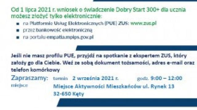 Kęty: mobilny punkt ZUS dla wniosków o świadczenia 300+