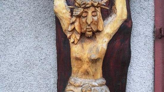 KĘTY. Odzyskana płaskorzeźba Jezusa Chrystusa