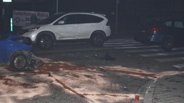 Kęty - Opel, Fiat i Honda zderzyły się na skrzyżowaniu