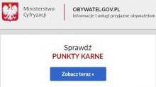 KGP. Punkty karne do sprawdzenia w Internecie. Uważajmy jednak na fałszywe strony!