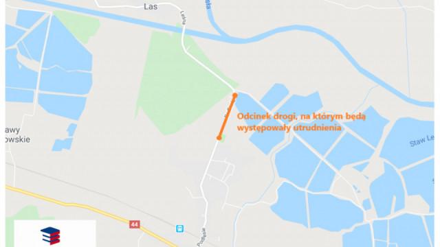 Kolejne utrudnienia w związku z przebudową drogi powiatowej w Przeciszowie