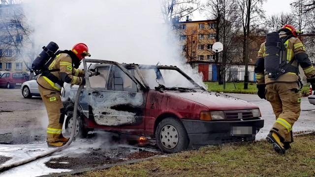 Kolejny pożar samochodu w Oświęcimiu – ZDJĘCIA!