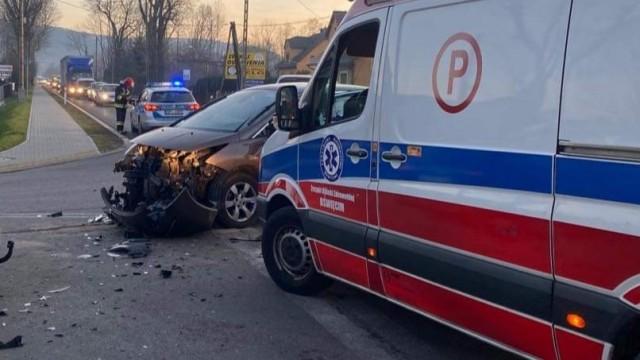 Kolejny wypadek drogowy na DK52 w Kętach – ZDJĘCIA!