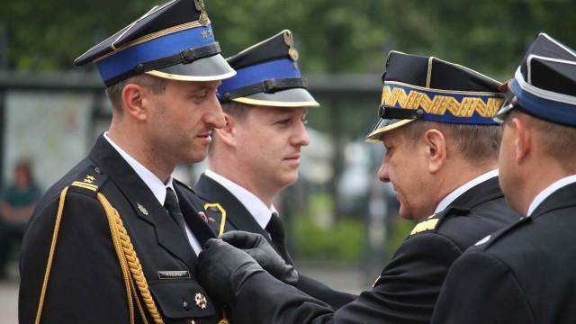 Komendant Powiatowy PSP Oświęcim awansował na wyższy stopień oficerski