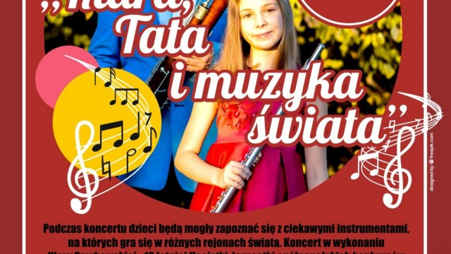 Koncert rodzinny - Klara, Tata i muzyka świata - InfoBrzeszcze.pl
