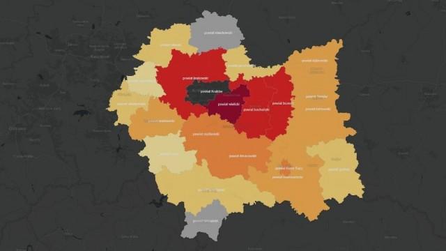 Koronawirus w Małopolsce [MAPA POWIATÓW]