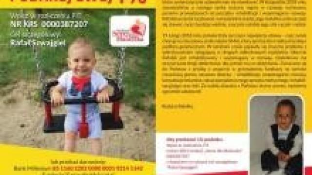 KWP Kraków. Pomóżmy uratować życie 2-letniego synka naszego kolegi policjanta!
