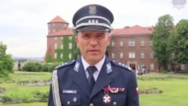 KWP Kraków. Życzenia Komendanta Wojewódzkiego Policji z okazji Święta Policji
