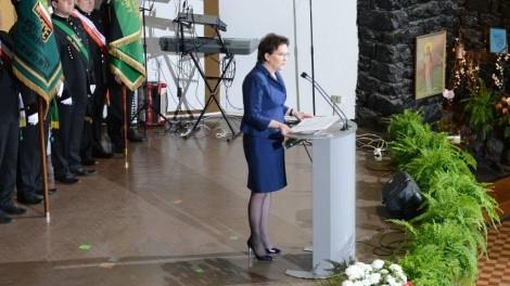 LĘDZINY. Premier Ewa Kopacz na Barbórce w Lędzinach