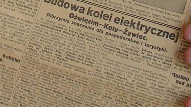 Linia kolejowa w dolinie Soły z Oświęcimia przez Kęty do Żywca. Był taki pomysł przed wojną