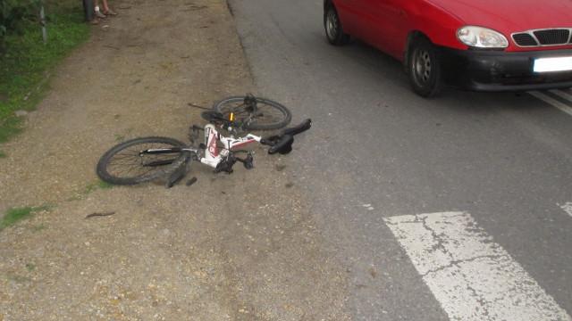 Małoletni rowerzysta ranny w wypadku drogowym w Grojcu. ZDJĘCIA !