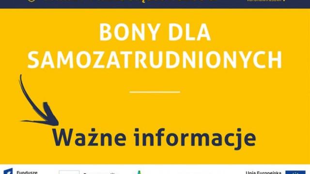 Małopolska. 16 mln zł na bony dla samozatrudnionych