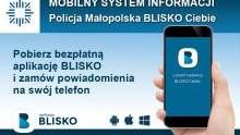 Małopolska policja rozpoczęła nadawanie w ogólnopolskiej aplikacji BLISKO.