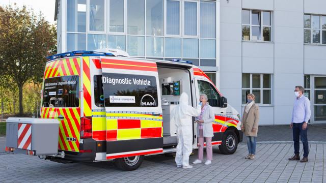 MAN TGE – pojazd diagnostyczny do wykonywania testów koronawirusa