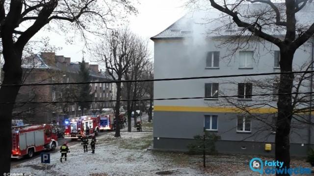 Mężczyzna zginął w pożarze mieszkania w Brzeszczach