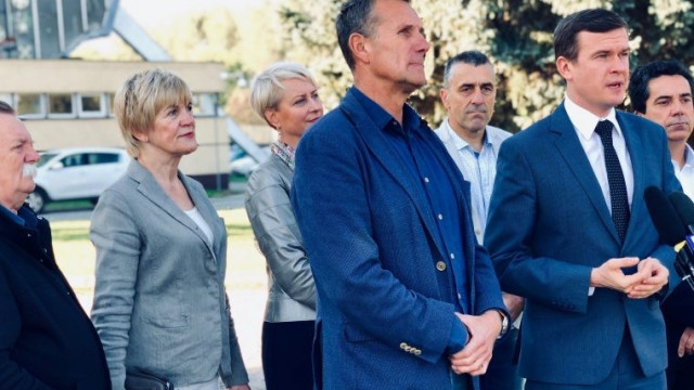 Minister Sportu i Turystyki Witold Bańka z wizytą w Oświęcimiu