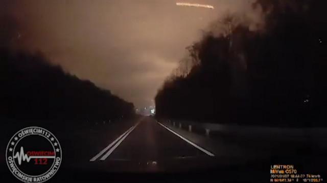 Moment wybuchu uchwycony w Oświęcimiu