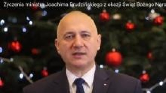 MSWiA. Życzenia Ministra Joachima Brudzińskiego z Okazji Świąt  Bożego Narodzenia