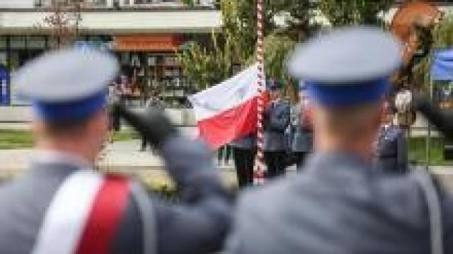Nadanie sztandaru Komendzie Powiatowej Policji w Oświęcimiu