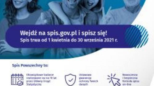 Narodowy Spis Powszechny Ludności i Mieszkań 2021 - trwa od 01 kwietnia 2021 do 30 września 20201