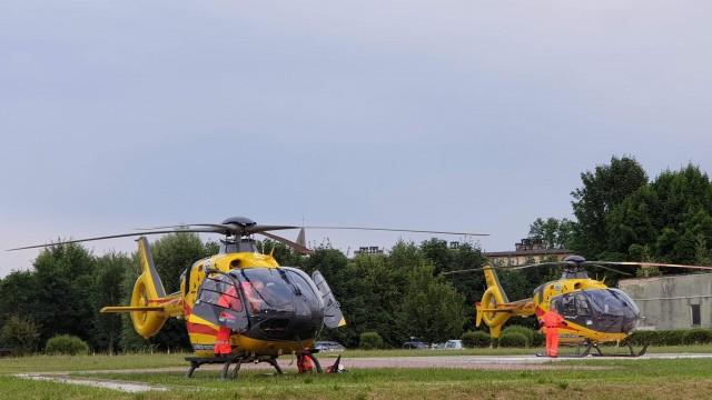 Niecodzienny widok na szpitalnym lądowisku w Oświęcimiu – ZDJĘCIA!