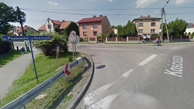 Nieprzejezdne skrzyżowanie ulic Kościuszki i Piastowskiej