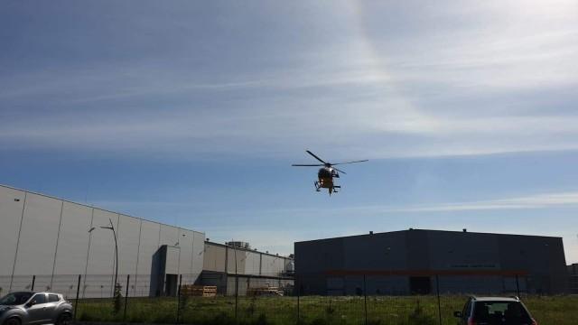Nieszczęśliwy wypadek w Kętach. Po rannego przyleciał śmigłowiec LPR – ZDJĘCIA!