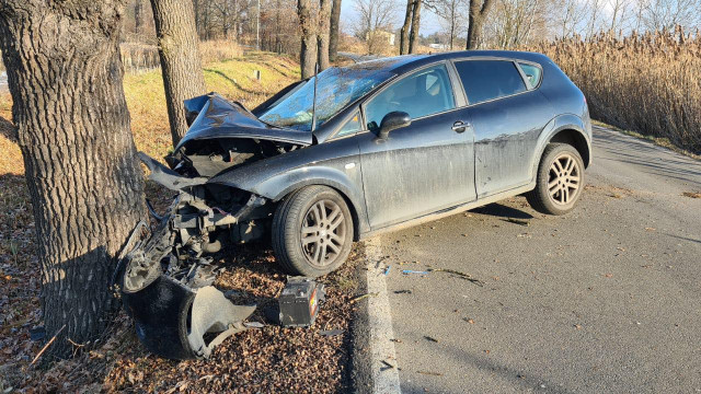 Nietrzeźwa kierująca spowodowała wypadek w Harmężach – ZDJĘCIA!