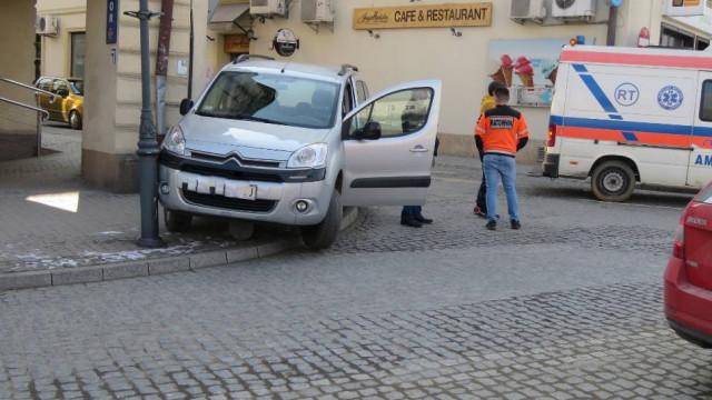 Nietypowy wypadek w Wadowicach.  [WIDEO, ZDJĘCIA]