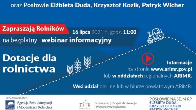 O pomocy dla rolników - ogólnopolski webinar w lipcu!