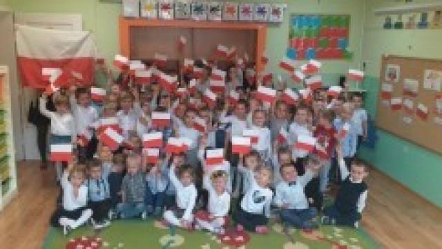 Obchody Narodowego Święta Niepodległości w Przedszkolu na Podlesiu