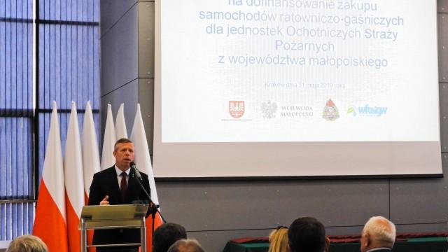 OSP Oświecim oraz OSP Polanka Wielka otrzymały dziś promesy na dofinansowanie do zakupu nowych samochodów – ZDJĘCIA!