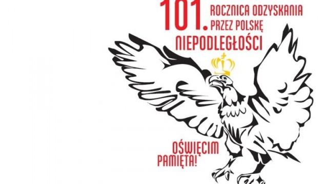 Oświęcim. 11 listopada. 101. rocznica odzyskania przez Polskę niepodległości