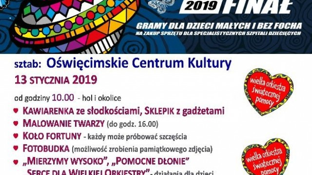 OŚWIĘCIM. 27. Finał Wielkiej Orkiestry Świątecznej Pomocy 2019