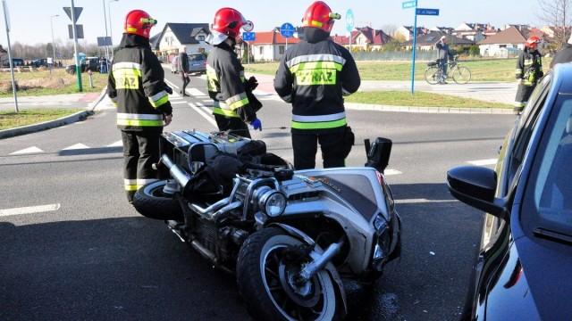 OŚWIĘCIM. 64-letni motocyklista trafił do szpitala