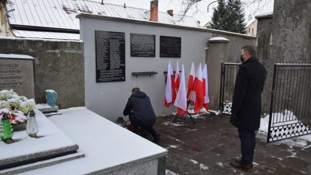 Oświęcim. 76. rocznica oswobodzenia niemieckiego nazistowskiego obozu koncentracyjnego i zagłady Auschwitz-Birkeanu i miasta Oświęcimia