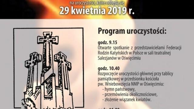 Oświęcim. 79. rocznica zbrodni na polskich jeńcach wojennych w 1940 roku w ZSRR