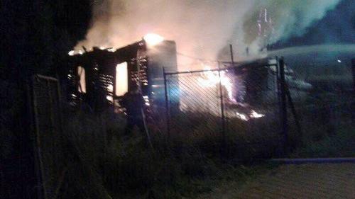 OŚWIĘCIM. Budynek gospodarczy spłonął doszczętnie
