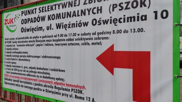 Oświęcim.  Godziny otwarcia Punktów Selektywnej Zbiórki Odpadów Komunalnych w okresie Świąt Wielkanocnych