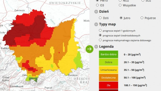 Oświęcim. Jutro prognozowane jest przekroczenia poziomu alarmowego pyłu PM10