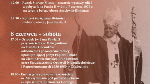 Oświęcim. Koncerty, wystawy i spotkanie z fotografem papieża na 40. rocznicę wizyty Jana Pawła II na Ziemi Oświęcimskiej